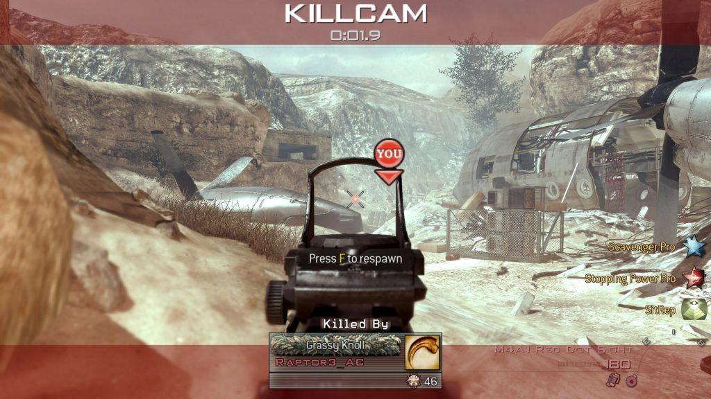 Call of Duty Modern Warfare 2 killcam